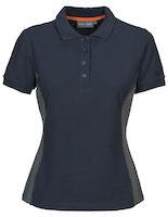 MacOne Selma Lady polo shirt marine/grijs mêlée