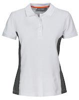 MacOne Selma Lady polo shirt wit/grijs mêlée