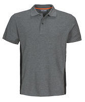 MacOne Ture Polo shirt grijs mêlée/zwart