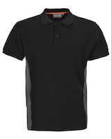 MacOne Ture Polo shirt zwart mêlée/grijs mêlée