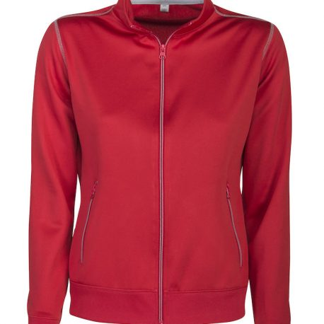 Printer Duathlon Lady Sweatshirt Jacket rood