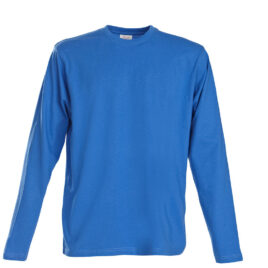Printer Heavy T L/S oceaanblauw