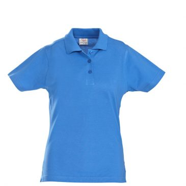 Printer Surf lady polo pique oceaanblauw