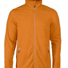 Printer Twohand Fleece Jacket oranje