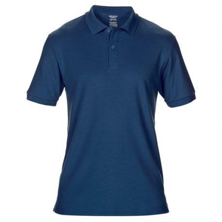 DryBlend Adult Double Piqué Polo navy