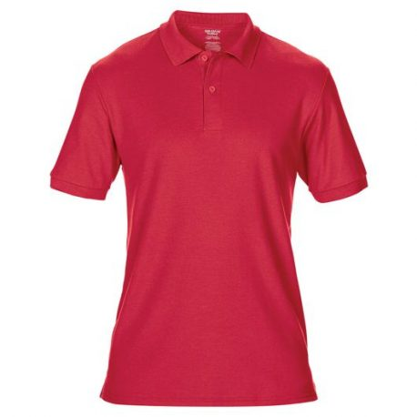 DryBlend Adult Double Piqué Polo red
