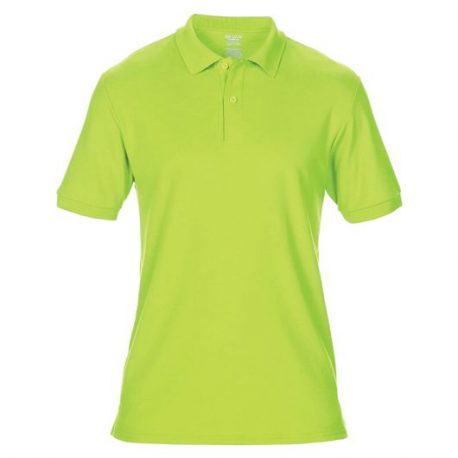 DryBlend Adult Double Piqué Polo safaty yellow