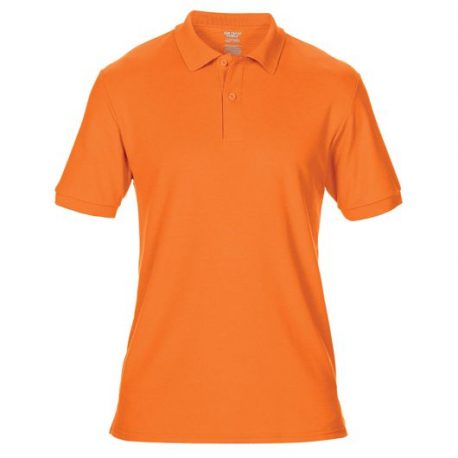 DryBlend Adult Double Piqué Polo safety orange
