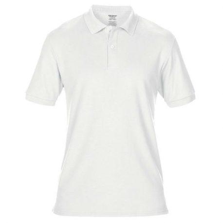 DryBlend Adult Double Piqué Polo white