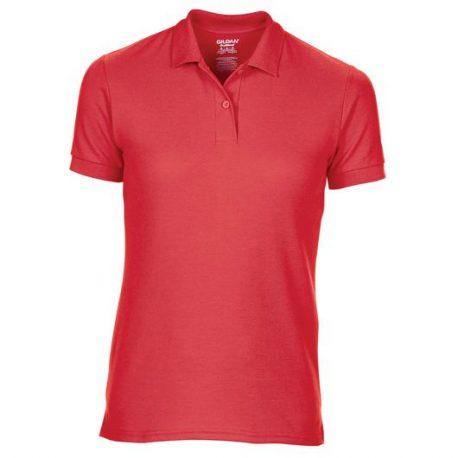 DryBlend Ladies' Double Piqué Polo red