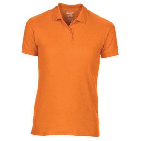 DryBlend Ladies' Double Piqué Polo safety orange