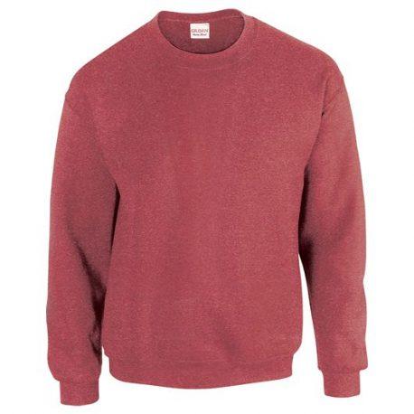 Heavy Blend Adult Crewneck Sweatshirt HEATHERSPORTSCARLETRED