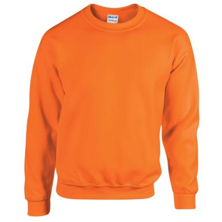 Heavy Blend Adult Crewneck Sweatshirt SAFETYORANGE