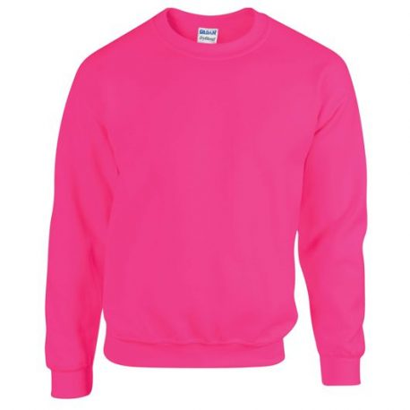 Heavy Blend Adult Crewneck Sweatshirt SAFETYPINK