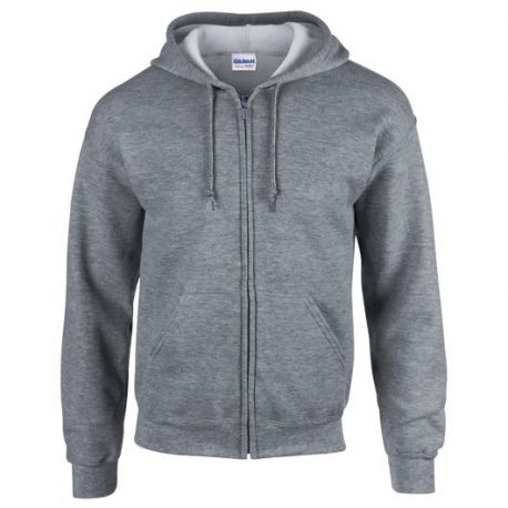Heavy Blend Adult Full Zip Hooded Sweatshirt GRAPHITEHEATHER