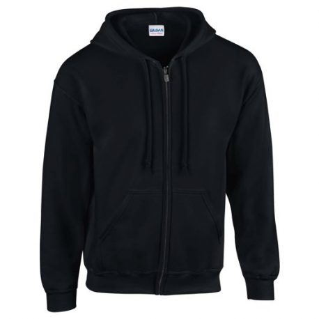 Heavy Blend Adult Full Zip Hooded Sweatshirt black