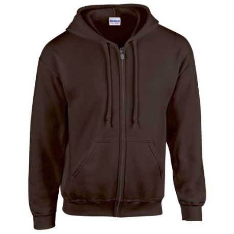Heavy Blend Adult Full Zip Hooded Sweatshirt dark chocolate