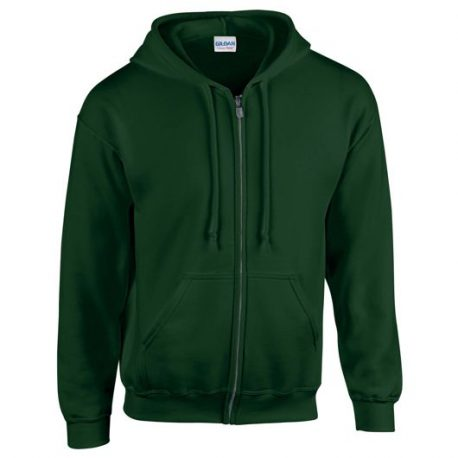 Heavy Blend Adult Full Zip Hooded Sweatshirt forest green