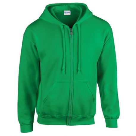 Heavy Blend Adult Full Zip Hooded Sweatshirt irish green