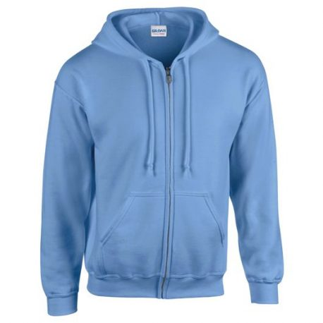 Heavy Blend Adult Full Zip Hooded Sweatshirt light blue