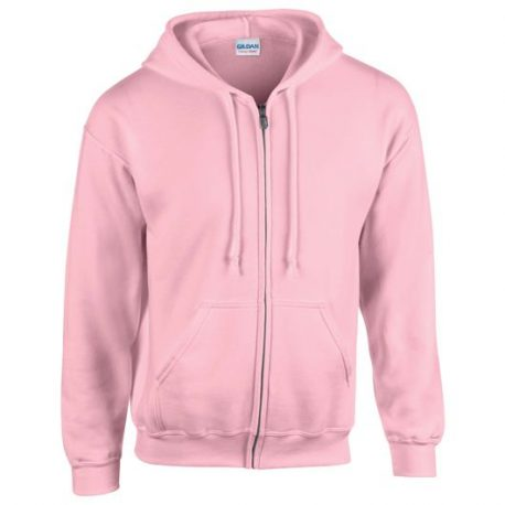 Heavy Blend Adult Full Zip Hooded Sweatshirt light pink