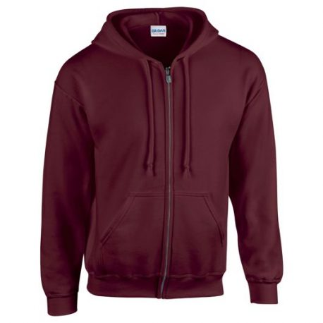 Heavy Blend Adult Full Zip Hooded Sweatshirt maroon
