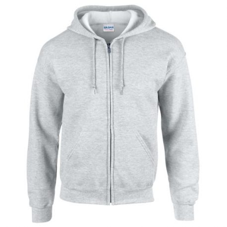 Heavy Blend Adult Full Zip Hooded Sweatshirt merlee ash