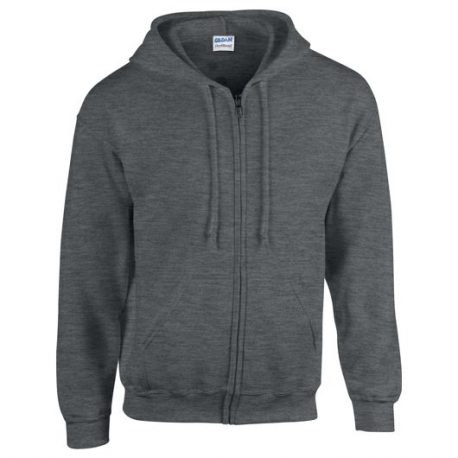 Heavy Blend Adult Full Zip Hooded Sweatshirt merlee dark grey
