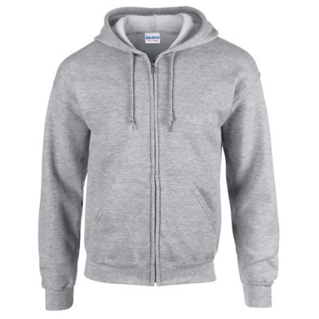 Heavy Blend Adult Full Zip Hooded Sweatshirt merlee grey