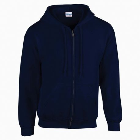 Heavy Blend Adult Full Zip Hooded Sweatshirt navy