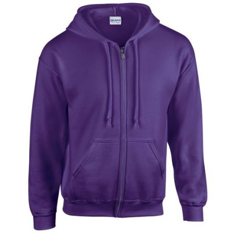 Heavy Blend Adult Full Zip Hooded Sweatshirt purple