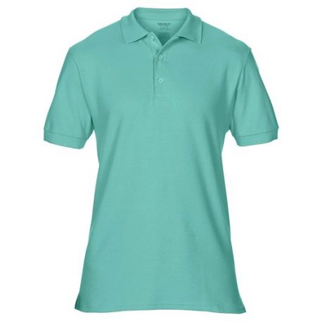 Premium Cotton Adult Double Piqué Polo CHALKYMINT
