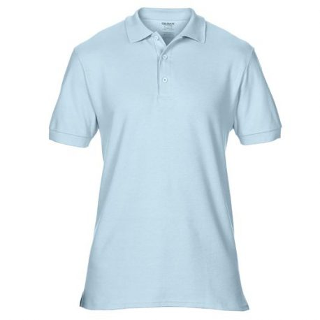 Premium Cotton Adult Double Piqué Polo CHAMBRAY