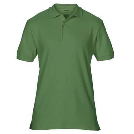 Premium Cotton Adult Double Piqué Polo MILITARYGREEN
