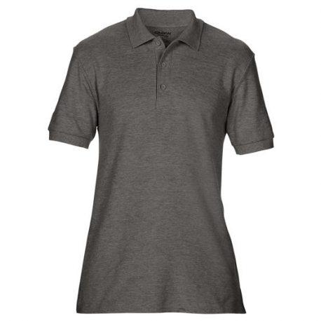 Premium Cotton Adult Double Piqué Polo dark heather