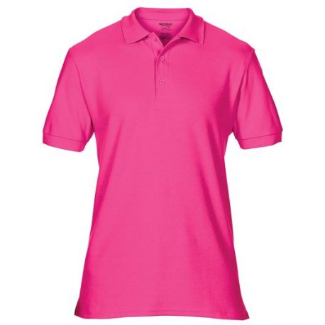 Premium Cotton Adult Double Piqué Polo dark pink
