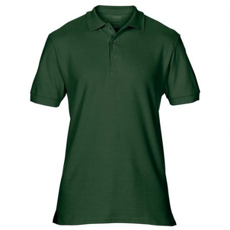 Premium Cotton Adult Double Piqué Polo forest green