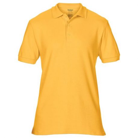 Premium Cotton Adult Double Piqué Polo gold