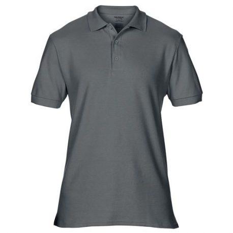 Premium Cotton Adult Double Piqué Polo graphite heather