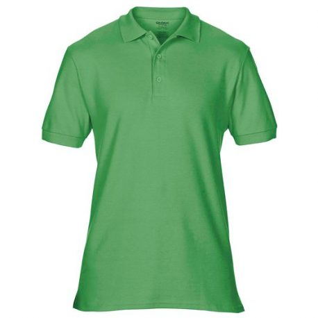 Premium Cotton Adult Double Piqué Polo irish green