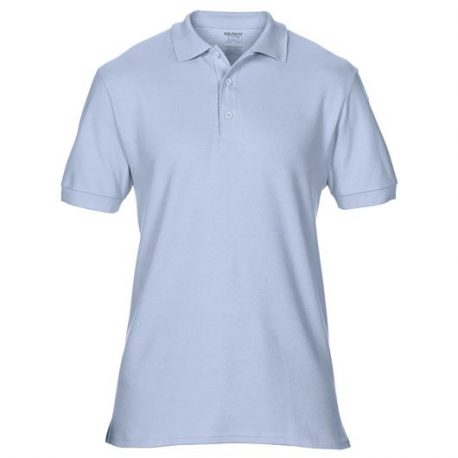 Premium Cotton Adult Double Piqué Polo light blue