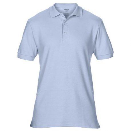 Premium Cotton Adult Double Piqué Polo light blue