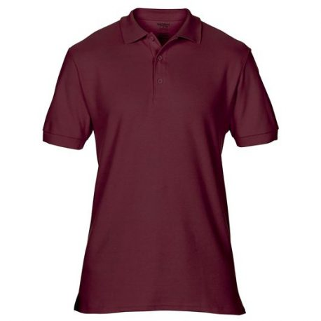 Premium Cotton Adult Double Piqué Polo maroon
