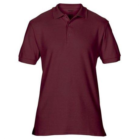 Premium Cotton Adult Double Piqué Polo maroon