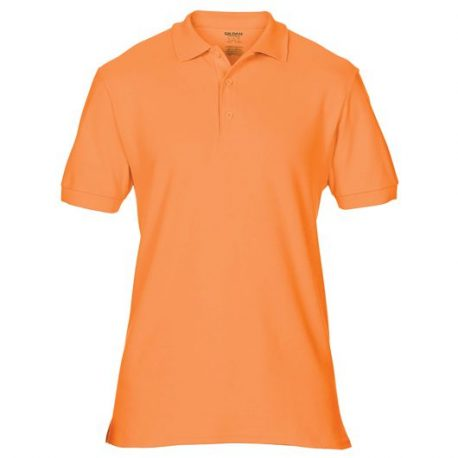 Premium Cotton Adult Double Piqué Polo orange