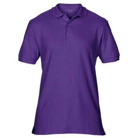 Premium Cotton Adult Double Piqué Polo purple