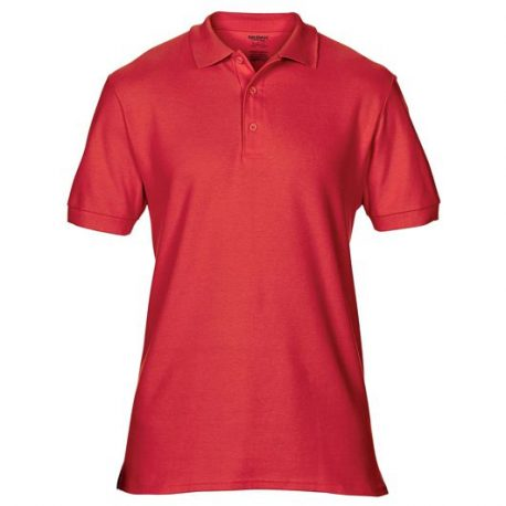Premium Cotton Adult Double Piqué Polo red