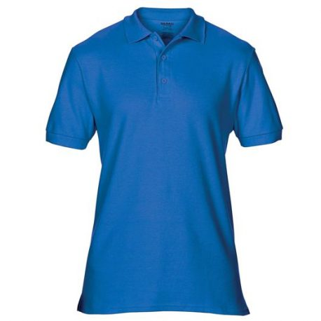 Premium Cotton Adult Double Piqué Polo royale blue