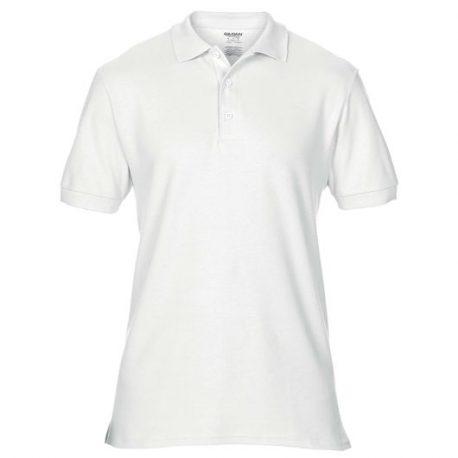Premium Cotton Adult Double Piqué Polo white