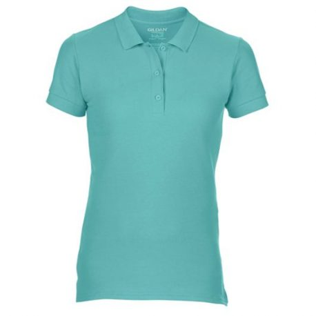 Premium Cotton Ladies' Double Piqué Polo CHALKYMINT